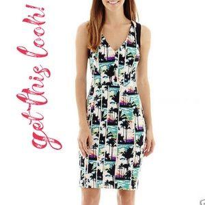 Nicole Miller Palm Tree Dress, LNWT